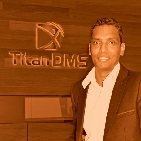 Sudarshan Chelliah, Titan DMS' Chief Financial Officer